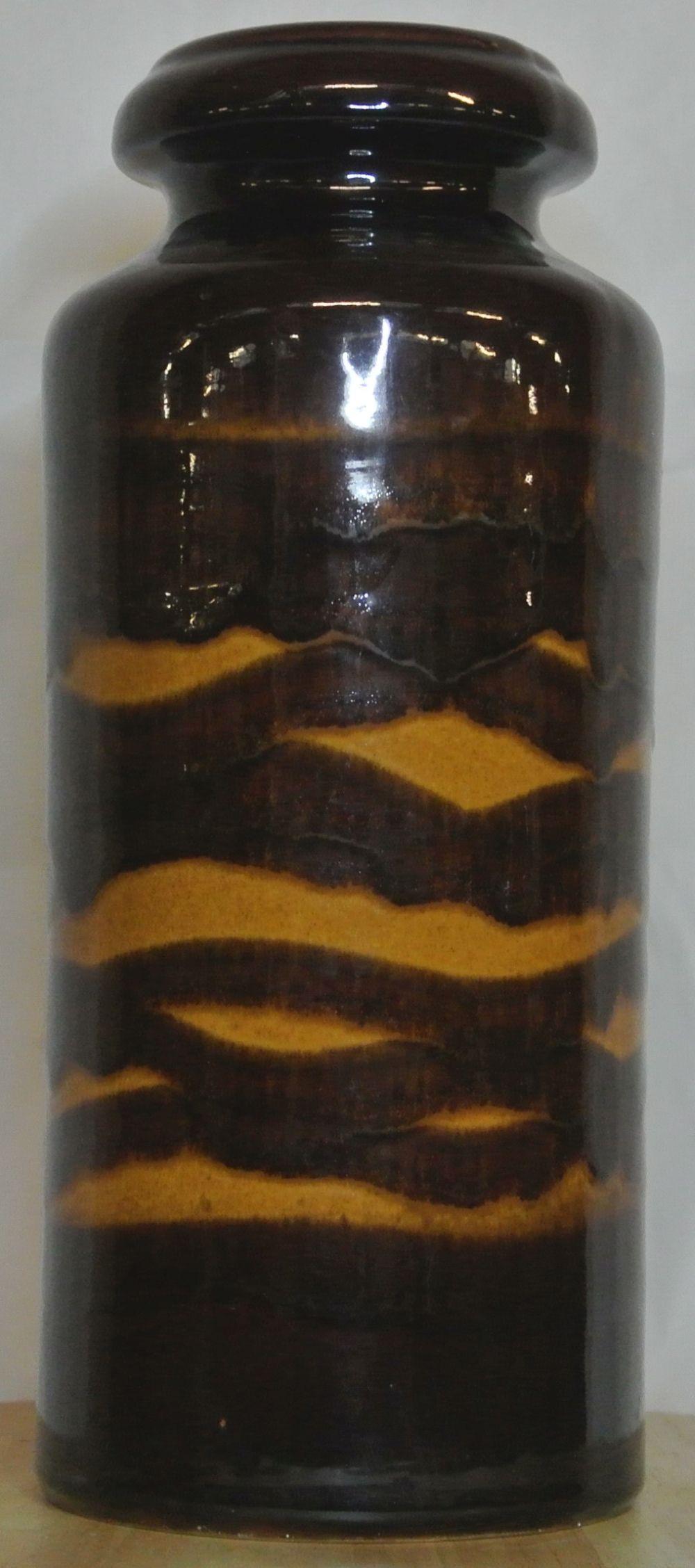 Lot 33: A large vintage/ Mid Century Western German 'Fat Lava' vase