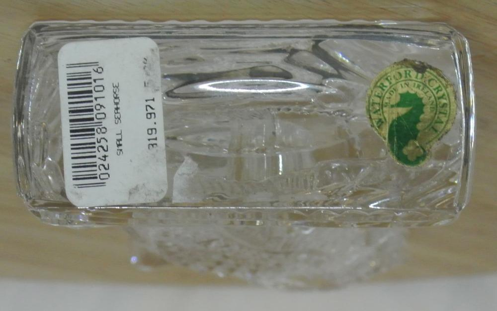 Lot 34: A scarce Waterford Crystal Seahorse