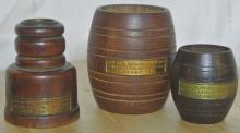 Lot 37: A collection of 3 pieces made from the teak of HMS Iron Duke