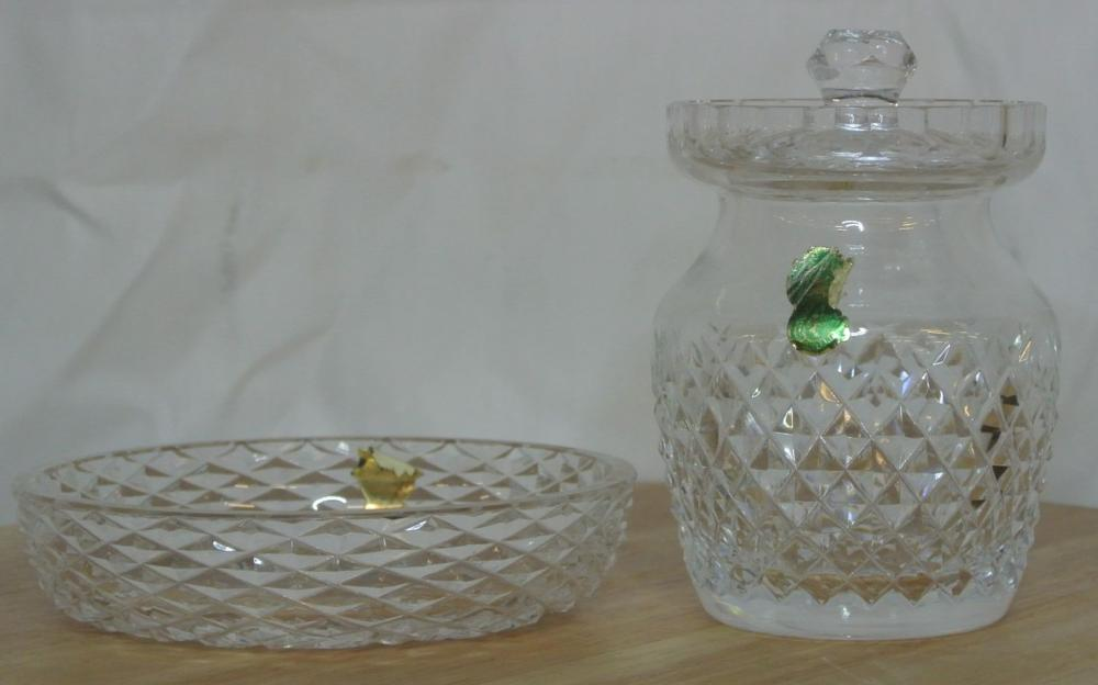 Lot 43: A collection of 2 pieces of Waterford Crystal