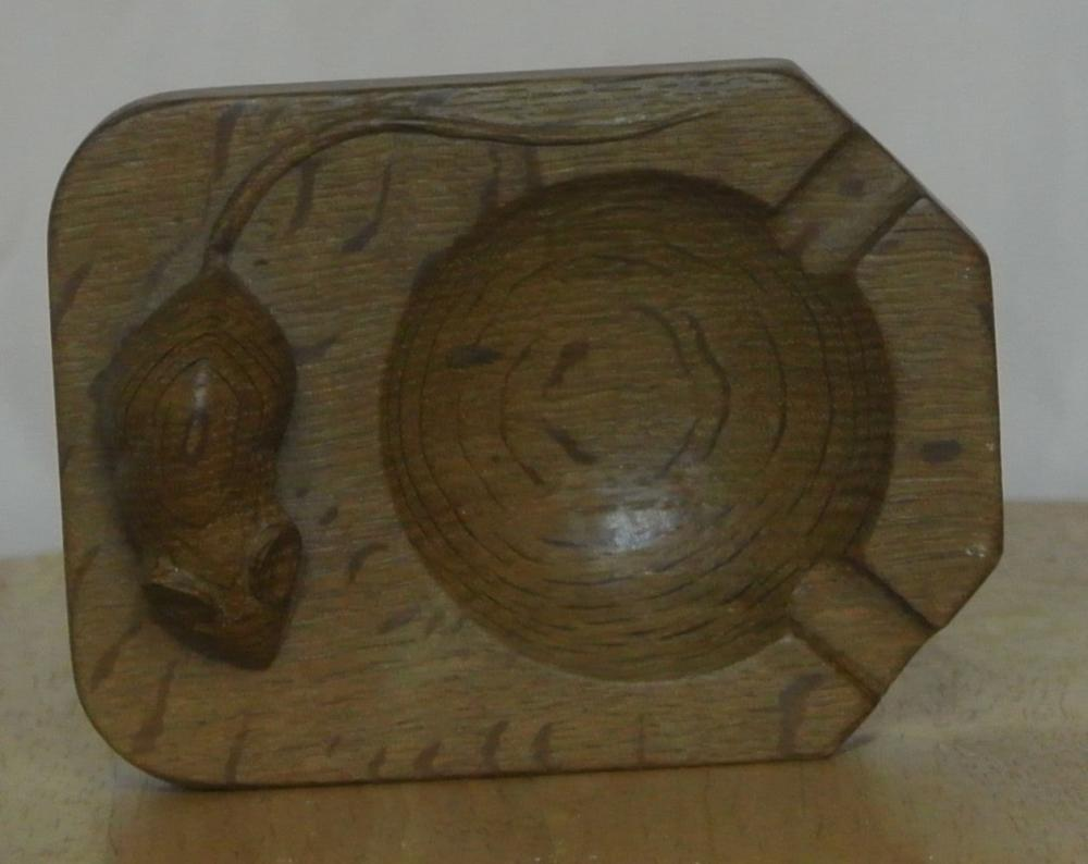 An original oak hand carved ashtray