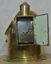 Lot 56: An antique brass cased ships binnacle floating compass