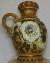 Lot 63: A vintage/ Mid Century West German 'Fat Lava' vase/jug