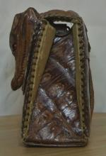 Lot 68: A vintage/ 1950s era ladies crocodile skin purse
