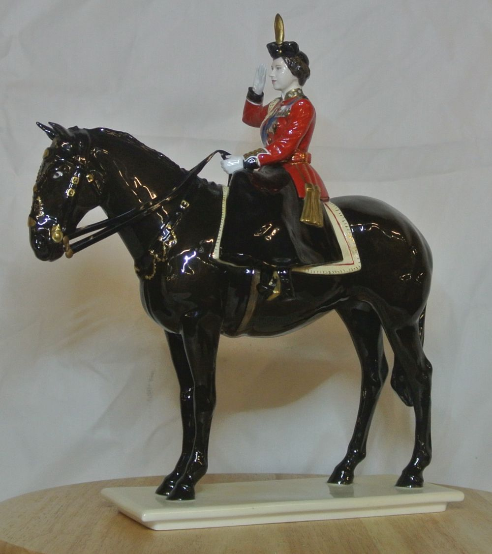 A limited edition Coalport figure titled 'Trooping the Colour'