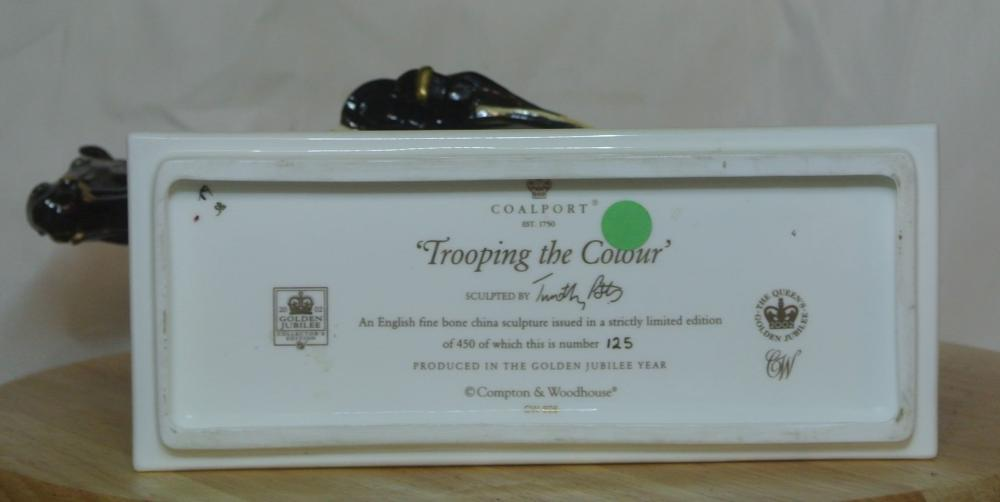 Lot 75: A limited edition Coalport figure titled 'Trooping the Colour'