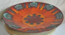 Lot 94: A stunning large vintage Poole Pottery 'Volcano' charger