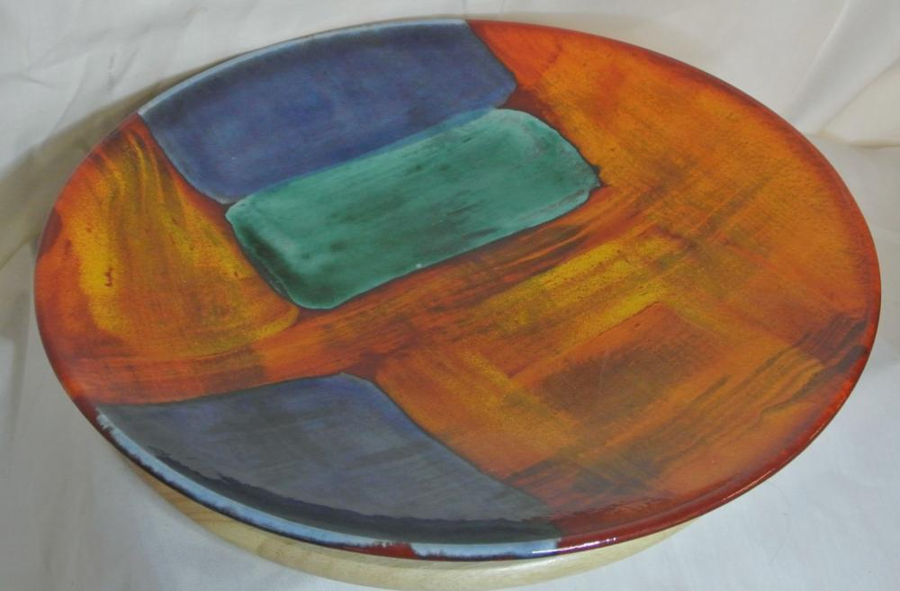 A stunning large vintage Poole Pottery charger