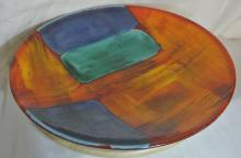 Lot 95: A stunning large vintage Poole Pottery charger