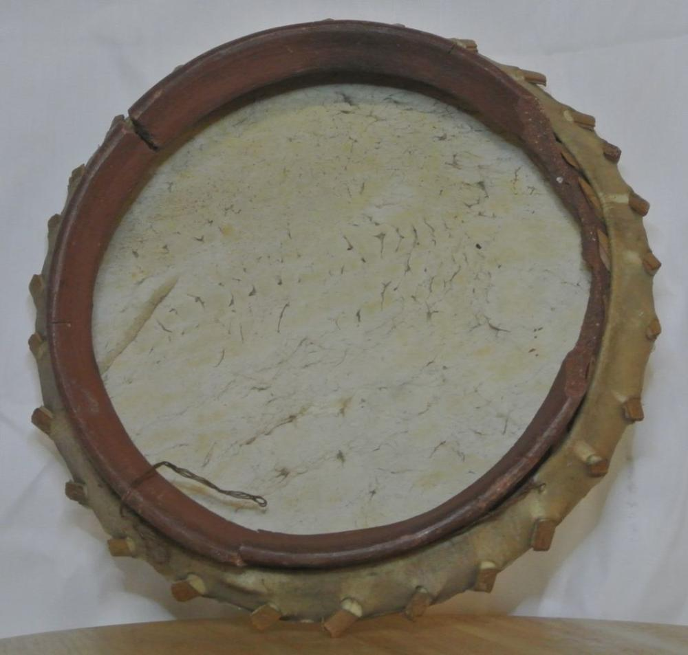 Lot 97: An unusual WW2 piece of trench art, in the form of a drum