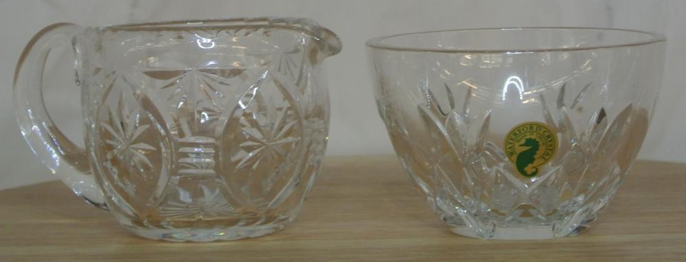 A Waterford Crystal Thank You vanity dish & jug.