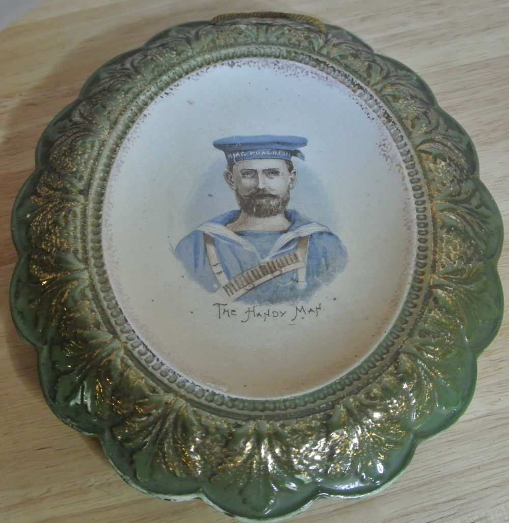 Lot 174: An antique ceramic plaque dating from the late 1890s