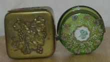 Lot 46: A collection of 2 antique trinket boxes