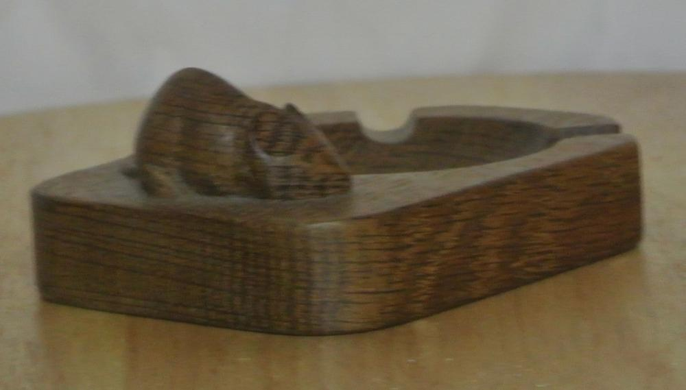 Lot 47: An original oak hand carved ashtray