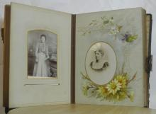 Lot 140: An antique Victorian photograph album