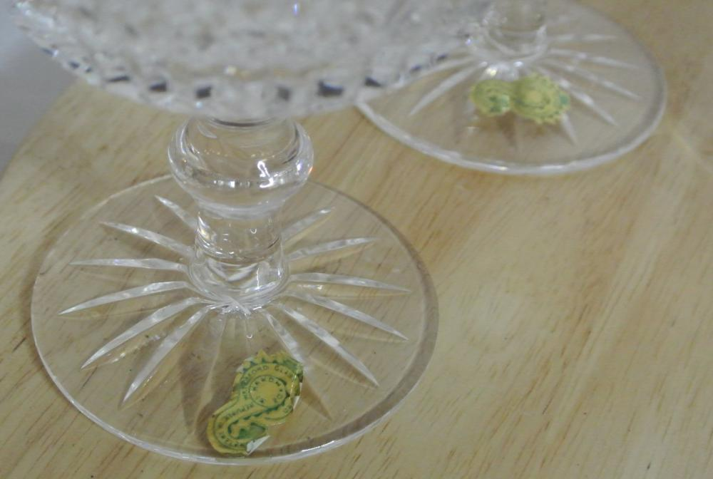 Lot 141: A set of 4 Waterford Crystal champagne saucers.