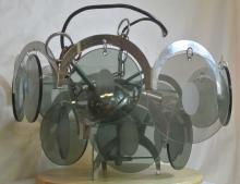 Lot 153: A vintage/ Mid Century Vistosi Murano glass light fitting