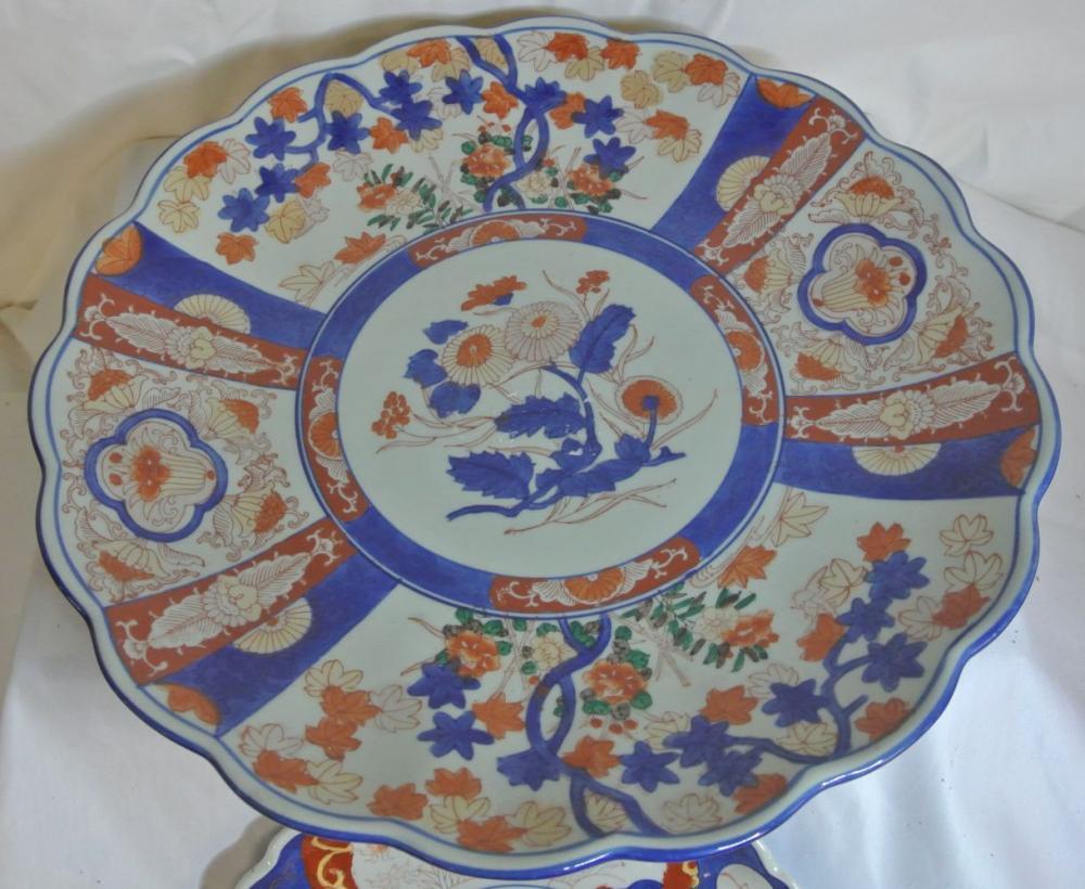 Lot 148: 2 antique Oriental Imari plates
