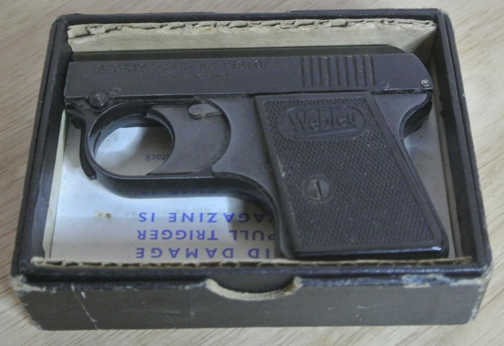 Lot 168: A Webley sports starting piston in original card box.