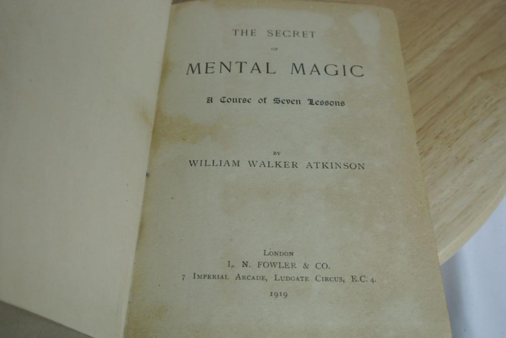 Lot 169: A early copy of 'The secret of mental magic'