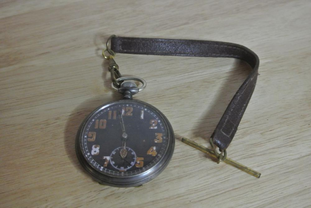 An antique WW1 era King George lever pocket watch