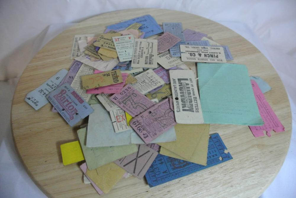 Lot 179: A large assortment of various vintage cinema & railway tickets.