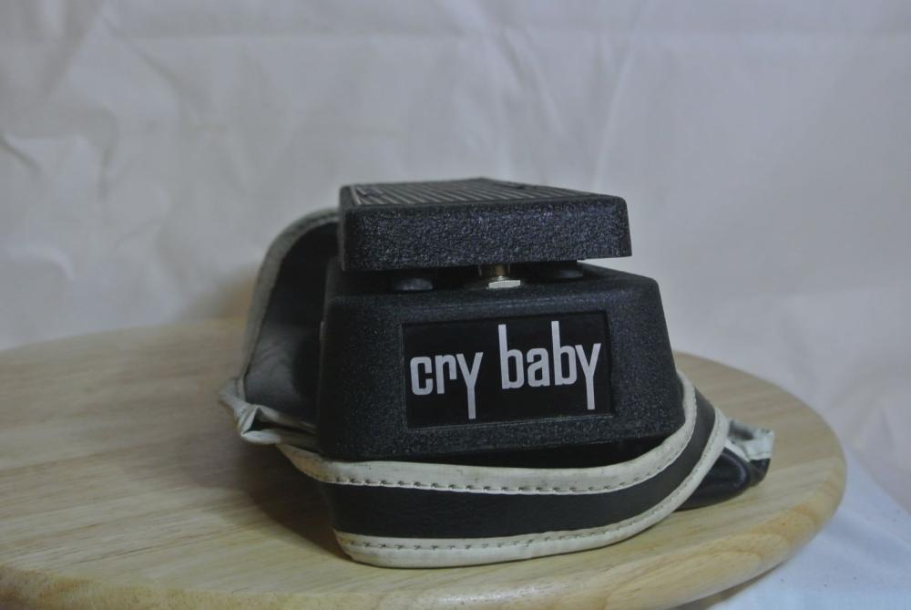 A vintage Cry Baby guitar wah pedal