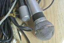 Lot 189: An assortment of various vintage microphones.