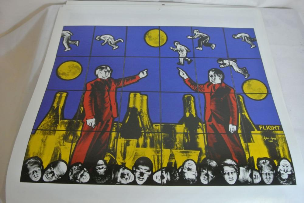 Lot 195: A Gilbert & George 'Gink' 2008 calendar.