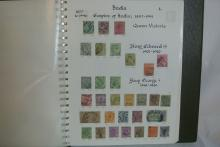 Lot 197: A stamp album containing various Commonwealth stamps