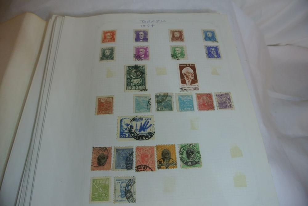 Lot 198: A stamp album containing various stamps