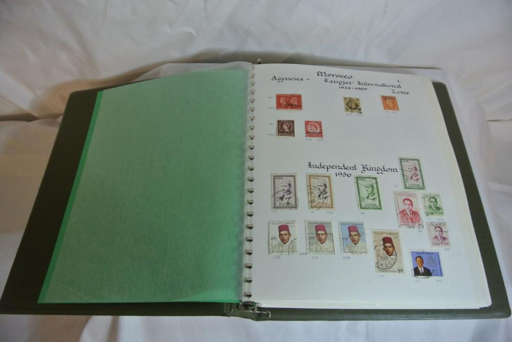 A stamp album containing various stamps