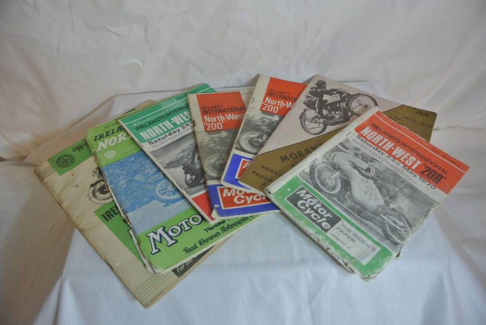 A collection of 7 North West 200 motorcycle race programmes