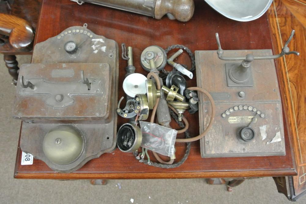 An antique Sterling Telephone & Electric Company telephone