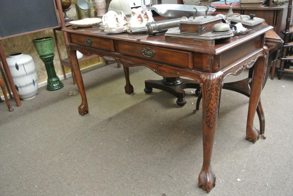 An antique style office desk