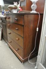Lot 106: An antique chest of drawers