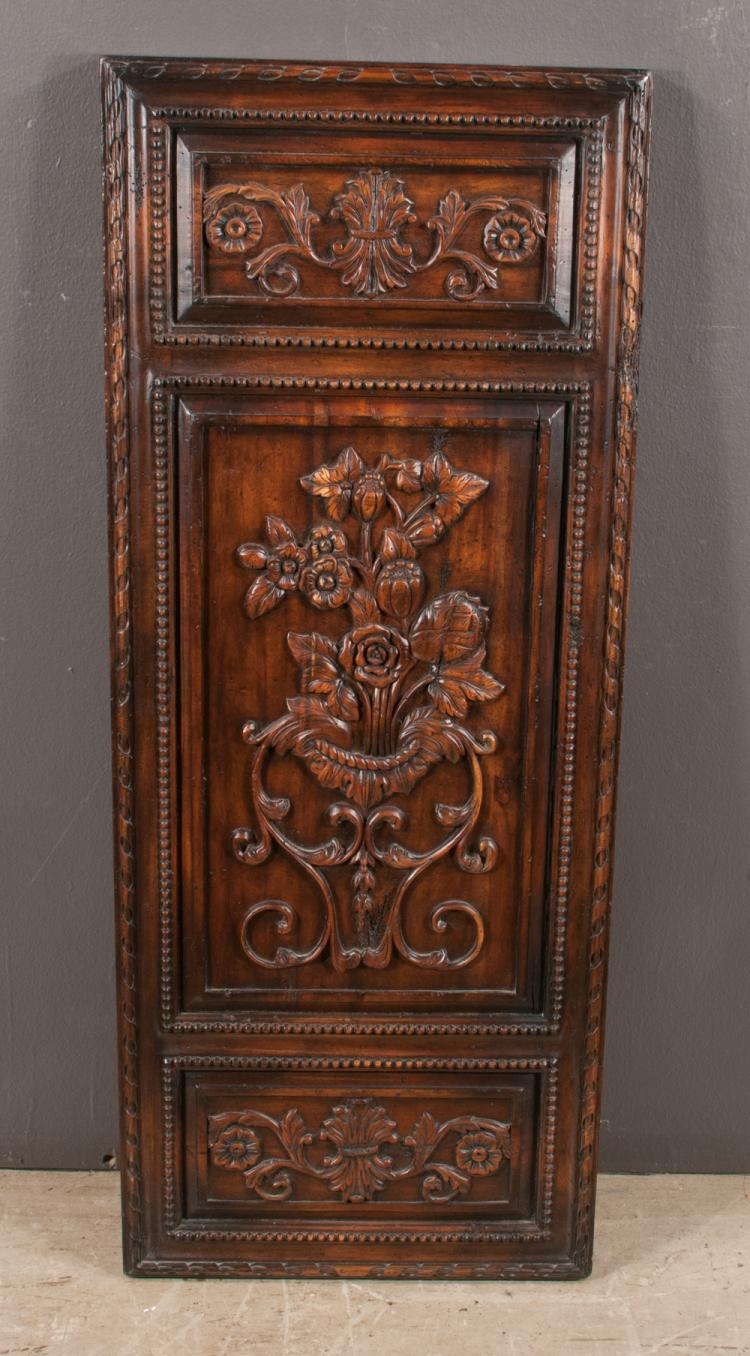 Decorative Wall Panel Gallery : Carved walnut decorative wall panel having floral reserves