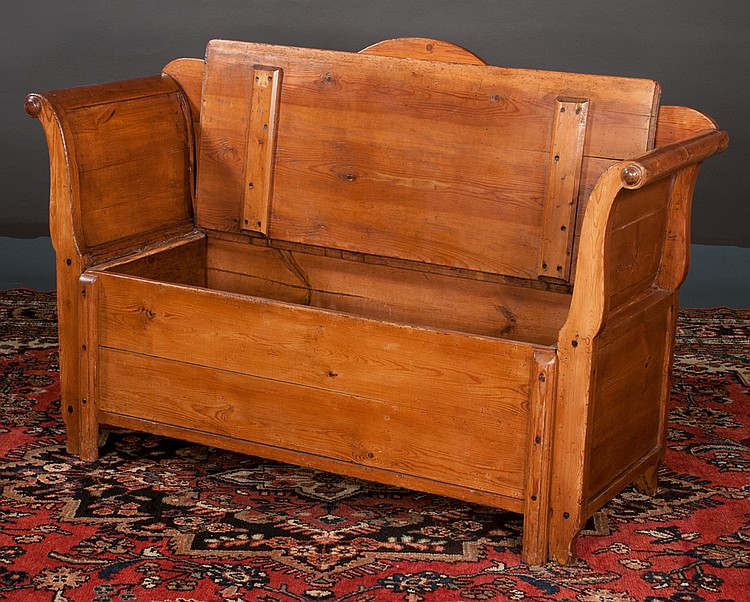 Swedish pine youth bed settee with arched back roll over for Furniture northgate