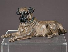 Vienna cold painted bronze depicting an English boxer signed