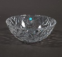 Cut crystal bowl signed