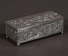 Dutch sterling silver hinged top box, 5