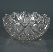 Fancy cut glass fruit bowl in the Plymouth pattern by Pitkins and Brooks (not signed), c.1900, 10