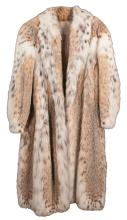 Full length Russian lynx coat with collar from Saks Fifth Ave. NY, 53