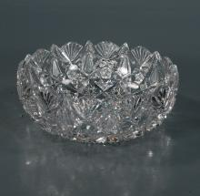 Exceptional cut glass bowl in the Florence pattern by Libbey, (not signed), 9