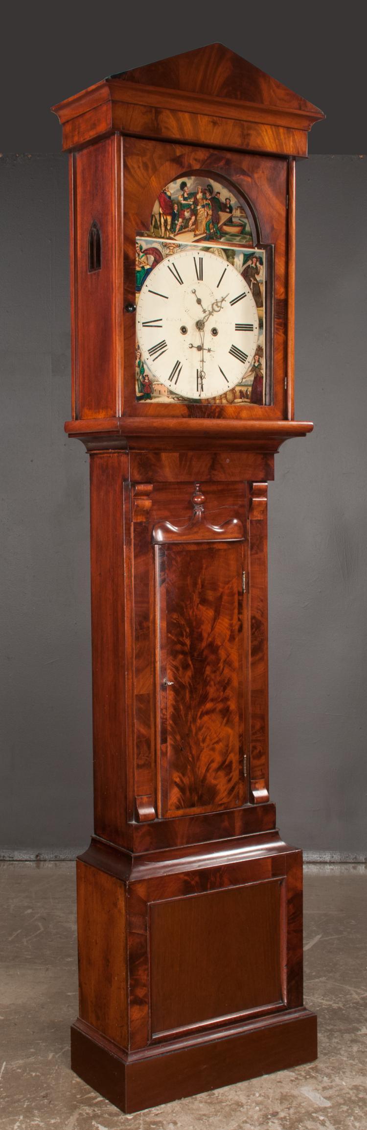 Scottish Longcase Mahogany Clock Made In Paisley 8 Day Move