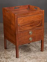 Chippendale mahogany tray top commode on straight legs, c.1830, 22