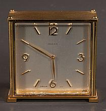 Gold gilt brass Swiss made mantle clock by