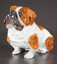 Italian glazed ceramic figure of a bulldog, 12