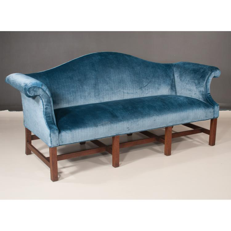 Fine Chippendale Style Mahogany Camel Back Roll Over Arm Sofa On Machost Co Dining Chair Design Ideas Machostcouk