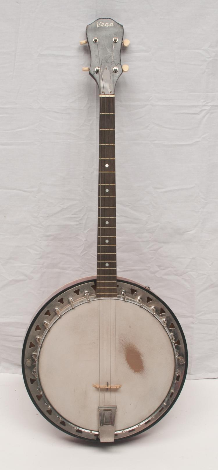 Banjo - Vega (Ranger Tenor) Live Performance/Touring four string, serial #A-127906, owned and played by Tom T. Hall with autographed photo of Tom T. playing the banjo